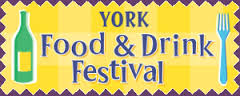 York festival of food and drink logo